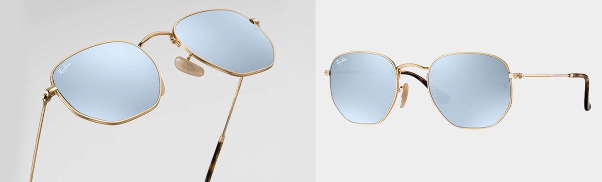 Às suas formas já míticas  aviador, oval, round ou quadrada, há que juntar  os seus óculos hexagonais. gafas hexagonales ray-ban gafas hexagonales 8a0813eb58