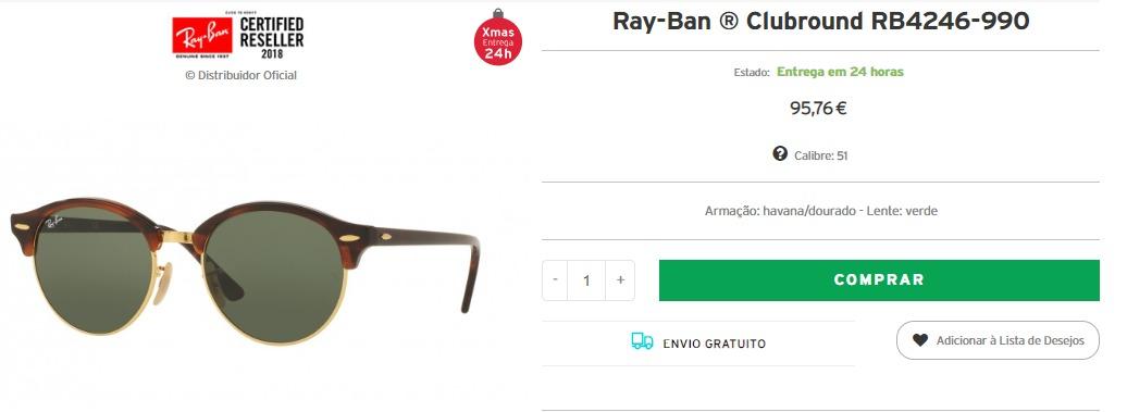 ef042878370de Há muitos óculos estão disponíveis em nosso site e muitos com envio  imediato. Só é necessário escolher o modelo que tenha o ícone natalício de  entrega em 24 ...